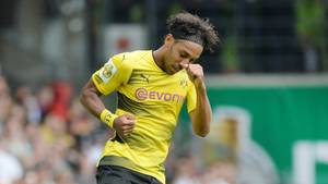 Beim DFB-Pokalspiel gegen den 1. FC Rielasingen-Arlen am Wochenende lief Pierre-Emerick Aubameyang noch für den BVB auf