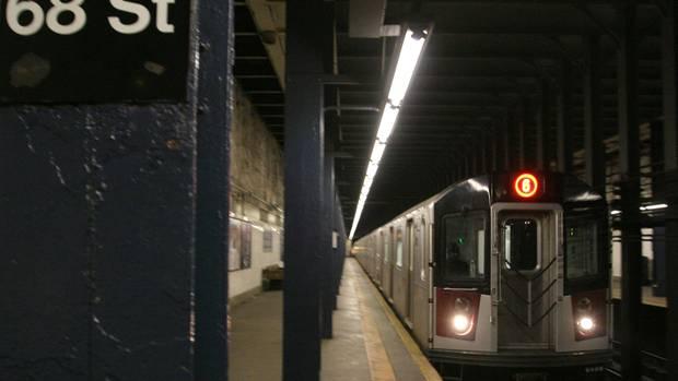 Bild einer New Yorker U-Bahn für das Verschicken von Bildern via AirDrop