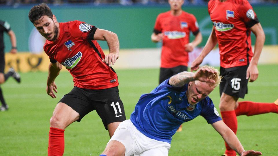DFB-Pokal Hansa Rostock - Hertha BSC