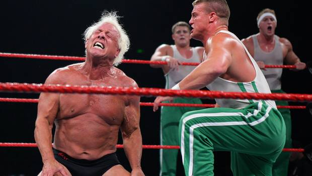 Wrestlingstar Ric Flair in der Acer Arena, Homebush Stadium am 4. August 2006.
