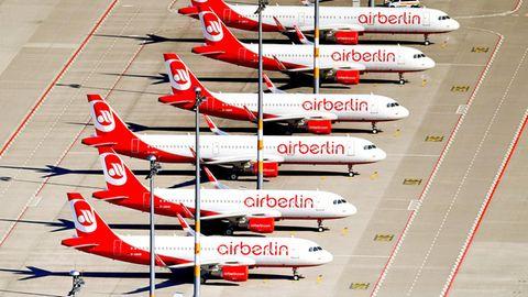 Air Berlin Flieger am Boden