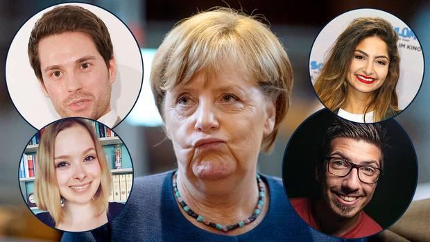 Diese YouTube-Stars nehmen Angela Merkel ins Verhör