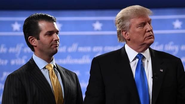 Trumps Sohn Donald Jr. (links) traf sich im Juli 2016 mit einer russischen Anwältin