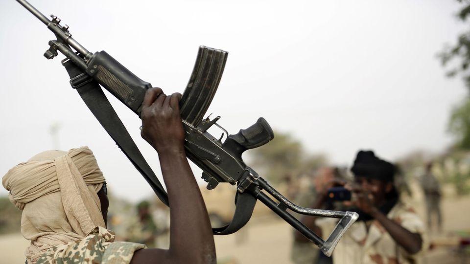 Boko Haram Soldaten in Nigeria nach einem Siegeszug im vergangenen Jahr