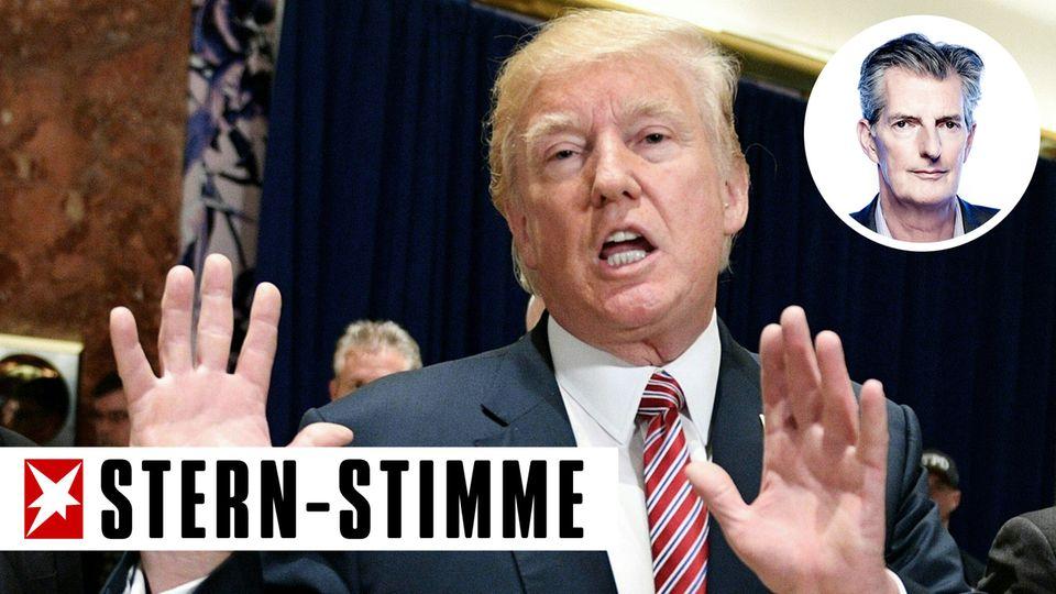 In seiner jüngsten Pressekonferenz gab Donald Trump sich wenig präsidial