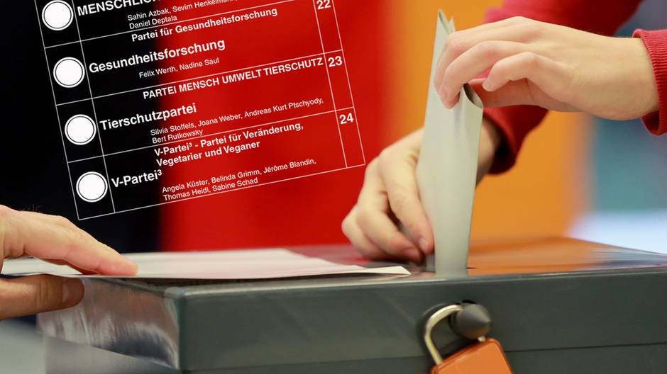 Insgesamt 42 Parteien hoffen bei der Bundestagswahl am 24. September auf das Kreuz der Wähler