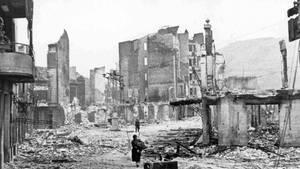 Nach dem Angriff war die Kleinstadt größtenteils zerstört.