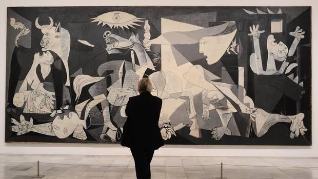 Heute hängt Picassos Gemälde in Madrid.
