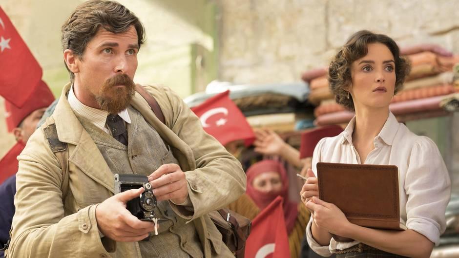 "Christian Bale in seinem neuen Film ""The Promise"""