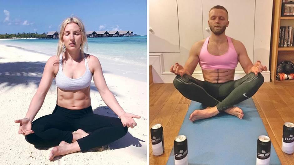 Witzige Kopie: Dieser Mann macht seine Fitness-Freundin auf Instagram nach - und ist damit richtig erfolgreich