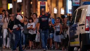 Anschlag Barcelona Passanten