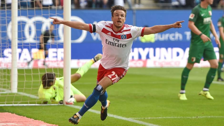 In der 8. Spielminute gelang Nicloai Müller nach Flanke von Walace der Führungstreffer gegen Augsburg...