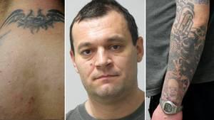 Die Polizei fahndet bundesweit nach Friedrich Wilhelm Koch. Besonders auffällig sind seine Tattoos.
