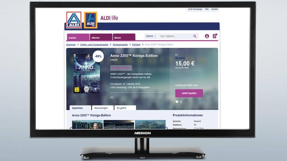 Aldi verkauft Videospiele für die Plattformen PC, Mac, Playstation 4 und Xbox One.
