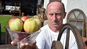 Marko Steidel scheiterte bei der Wahl zum Apfelkönig und will nun die amtierende Königin vom Thron stoßen