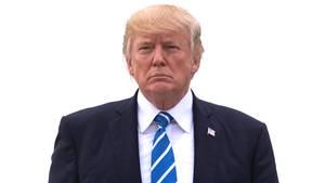Donald Trump: Die Zustimmungswerte in drei Swing States liegen unter 40 Prozent, das missmutige Gesicht passt (Archivbild)