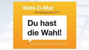 Startanzeige des Wahl-O-Mat zur Bundestagswahl 2017