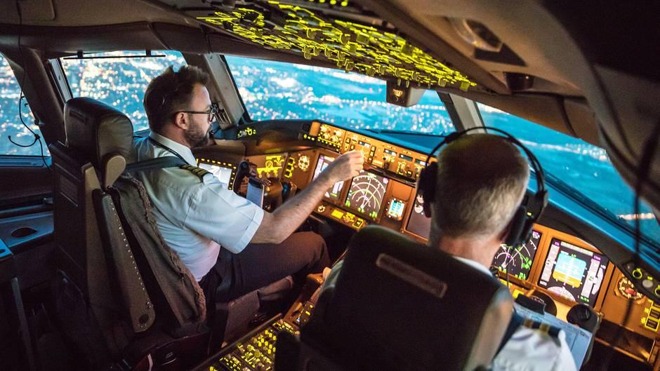 Piloten bei der Landung