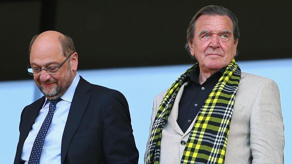 Gerhard Schröder und Martin Schulz