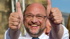 SPD-Kanzlerkandidat Martin Schulz auf einer Wahlkampfveranstaltung in dieser Woche in Trier