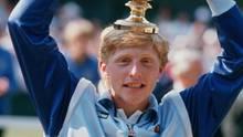 """7. Juli 1985: """"Wunderkind"""" Boris Becker wird mit 17 Jahren Wimbledonsieger"""