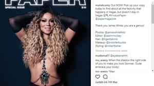 "Mariah Carey auf dem Cover des ""Papermagazins"""