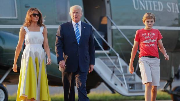 Familienbild: Melania, Donald und Barron Trump