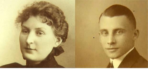 Elisabeth EmilieClara Heidenreich (*4.11.1876,† 28.03.1950) und ihr MannFranz XaverJohannes Jacobs (*22.6.1894,†4.5.1966).
