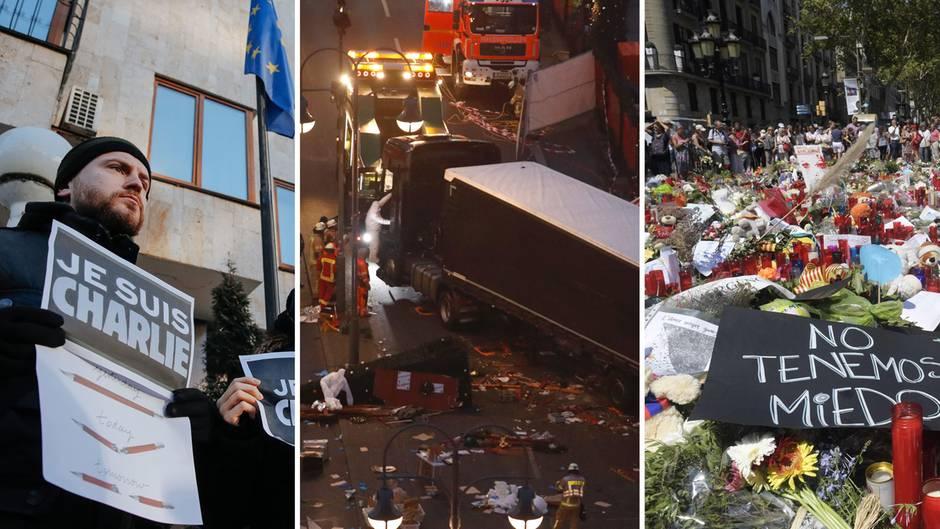 Nach dem Angriff in Spanien: Chronologie des Terrors in Europa: Von Brüssel bis Barcelona