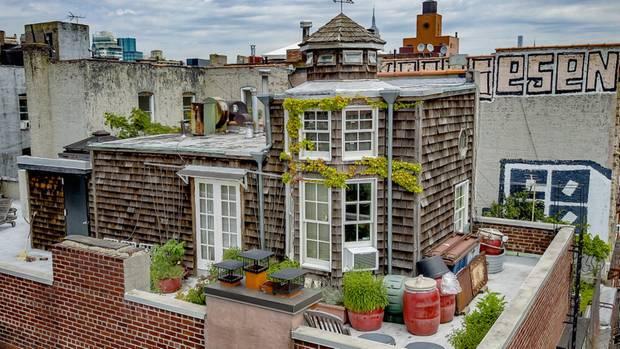 Diese Häuschen überblickt das East Village.