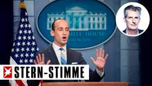"Stephen Miller gilt gemeinsam mit Stephen Bannon als Architekt der ""America First""-Strategie Trumps"