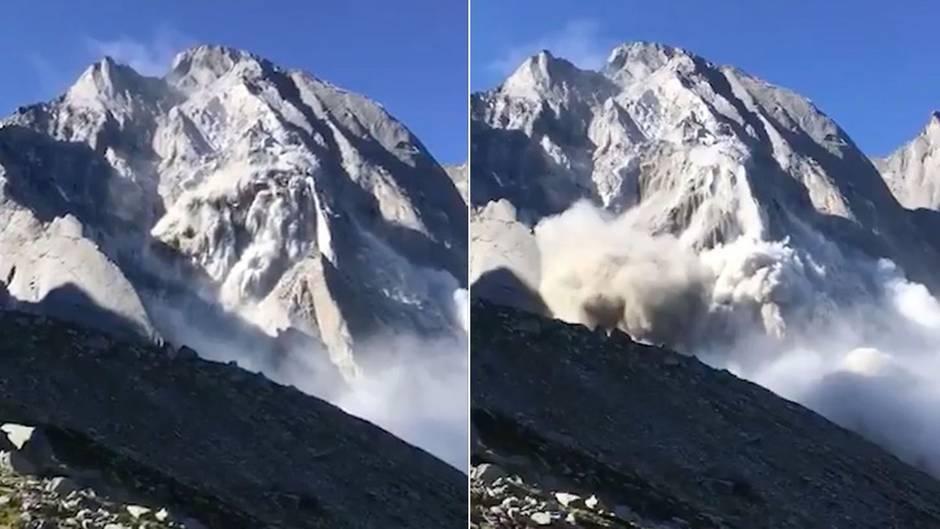 Piz Cengalo in der Schweiz: Augenzeugenvideo zeigt Moment des gewaltigen Bergrutsches