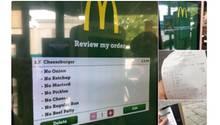 Eine Cheeseburger-Bestellung bei McDonald's.