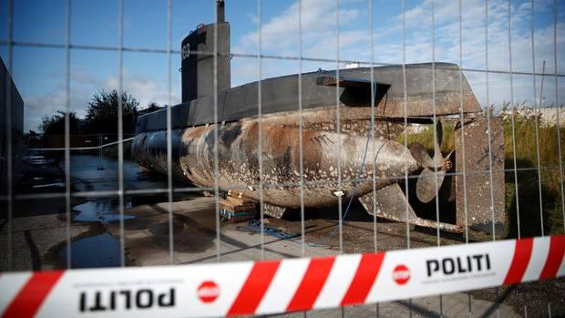 """Die """"Nautilus"""" wurde geborgen und liegt in einem von der Polizei abgesperrten Bereich"""