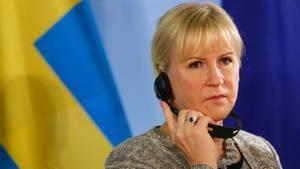"""Schwedische Außenministerin Margot Wallström nannte die Entwicklungen in der Türkei """"beunruhigend"""""""