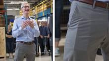 Bei einem Fabrikbesuch trug Apple-Chef Tim Cook ein ungewöhnliches Smartphone in der Tasche. Ist es das iPhone 8?