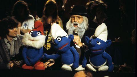 Vader Abraham singt mit drei Schlümpfen