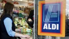 Eine Kassiererin sitzt bei Aldi an der Kasse - aber was verdient sie?