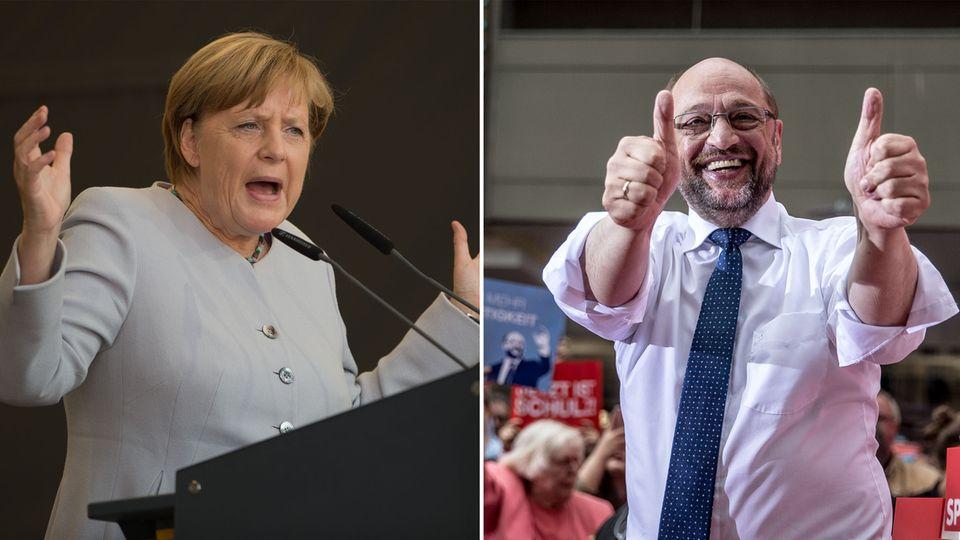 stern-Umfrage: Riesiges Interesse am TV-Duell Merkel gegen Schulz