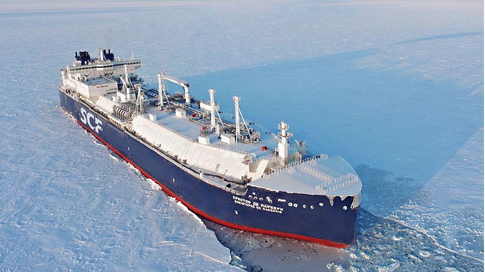 Mit Schiffen wie der Christophe de Margerie soll die menschenleere Arktis zu einer wichtigen Welthandelsroute werden.