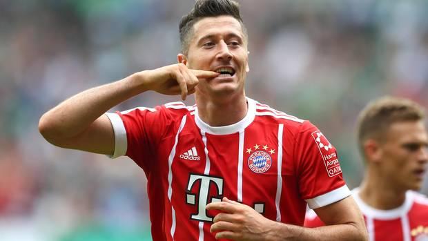 Robert Lewandowski schießt FC Bayern mit Doppelpack nach oben