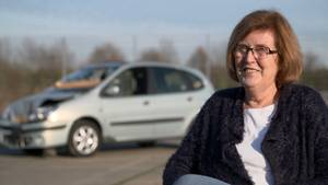 Glück im Unglück: Vera Förster entging nur knapp einer Katastrophe.