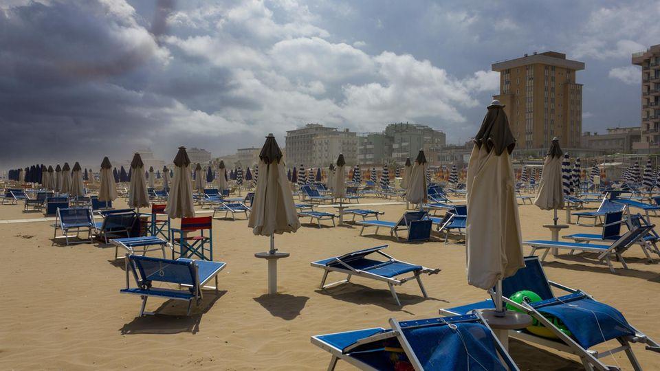Der Strand von Rimini