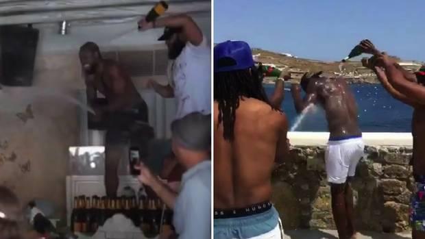 Usain Bolt - so lässt er es auf Mykonos krachen