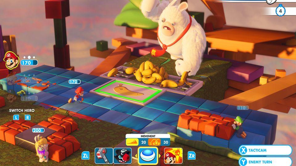 Ein Gorilla-Boss in Mario & Rabbids Kingdom Battle