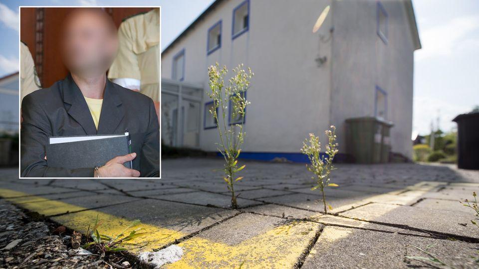 """Um sein Haus in Georgensmünd verläuft eine gelbe Linie: Wolfgang P. hatte sein """"Reich"""" klar abgesteckt"""