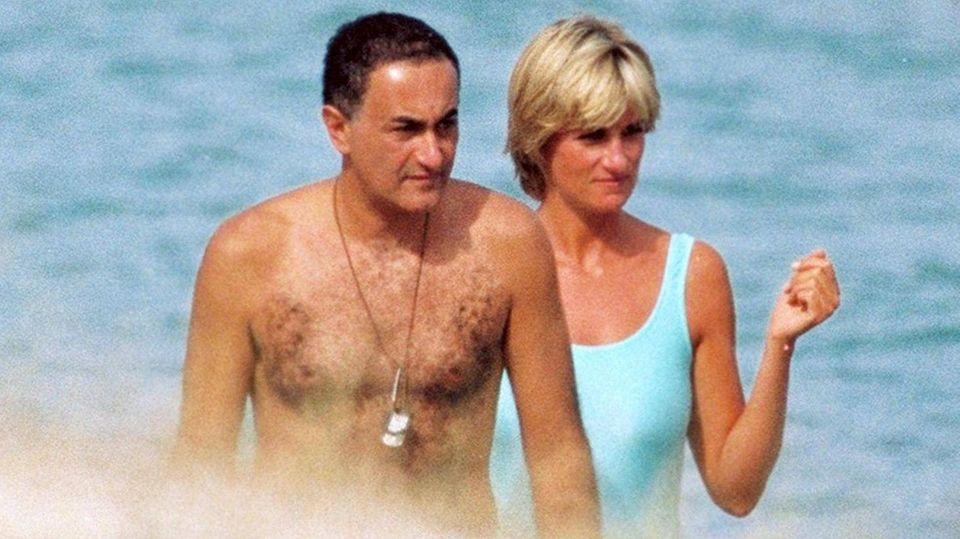 Diana mit ihrem letzten Geliebten, Dodi Al Fayed