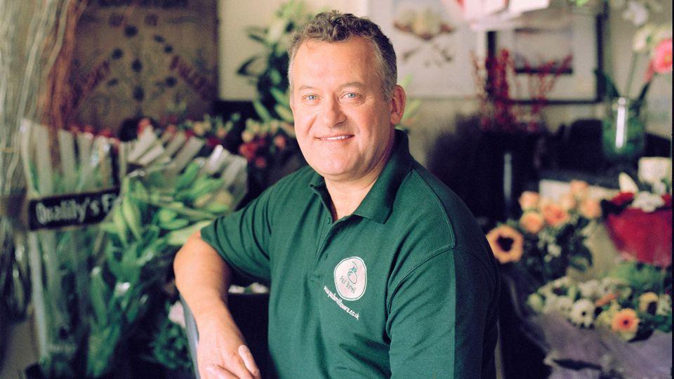 Ewige Liebe: ihr Butler und Vertrauter Paul Burrell in seinem Blumenladen, den er sich dank seiner Chefin kaufen konnte