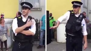 Tanzender Polizist