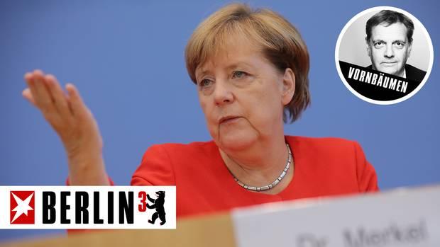 Bundeskanzlerin Angela Merkel bei der Bundespressekonferenz